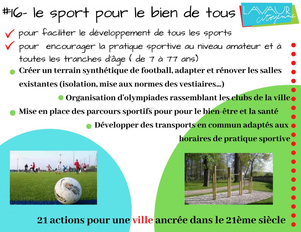 Action phare #16 Le sport pour le bien de tous