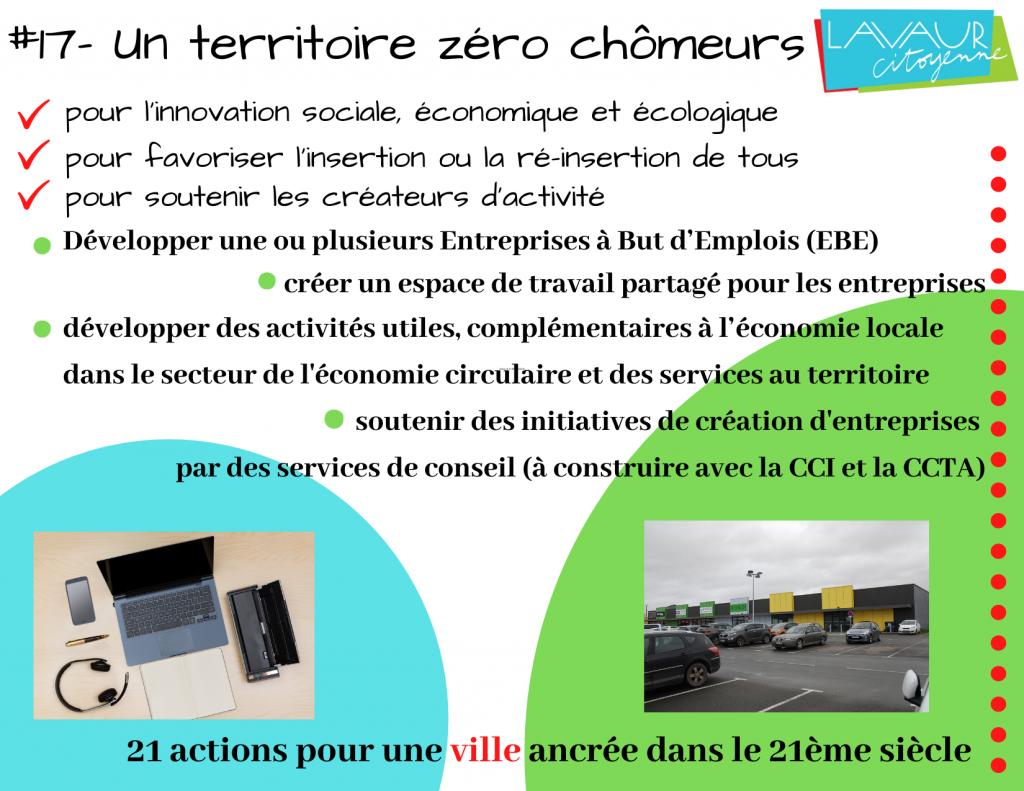 Action phare #17 Un territoire Zéro Chômeur