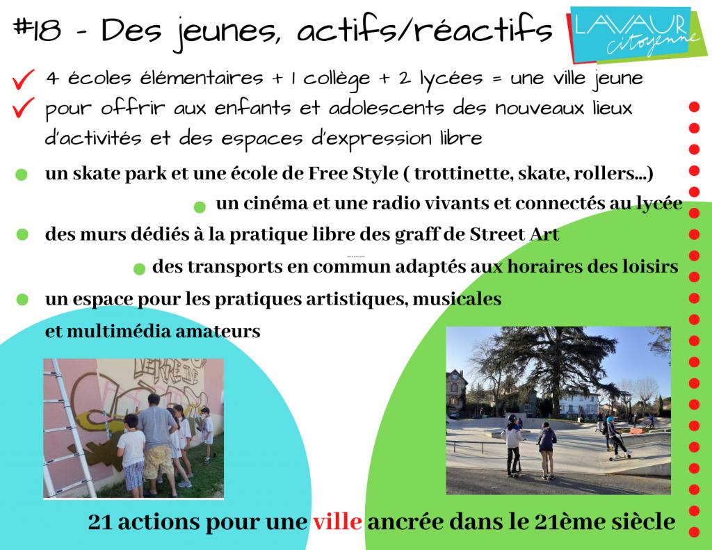 Action phare #18 Des jeunes actifs/réactifs