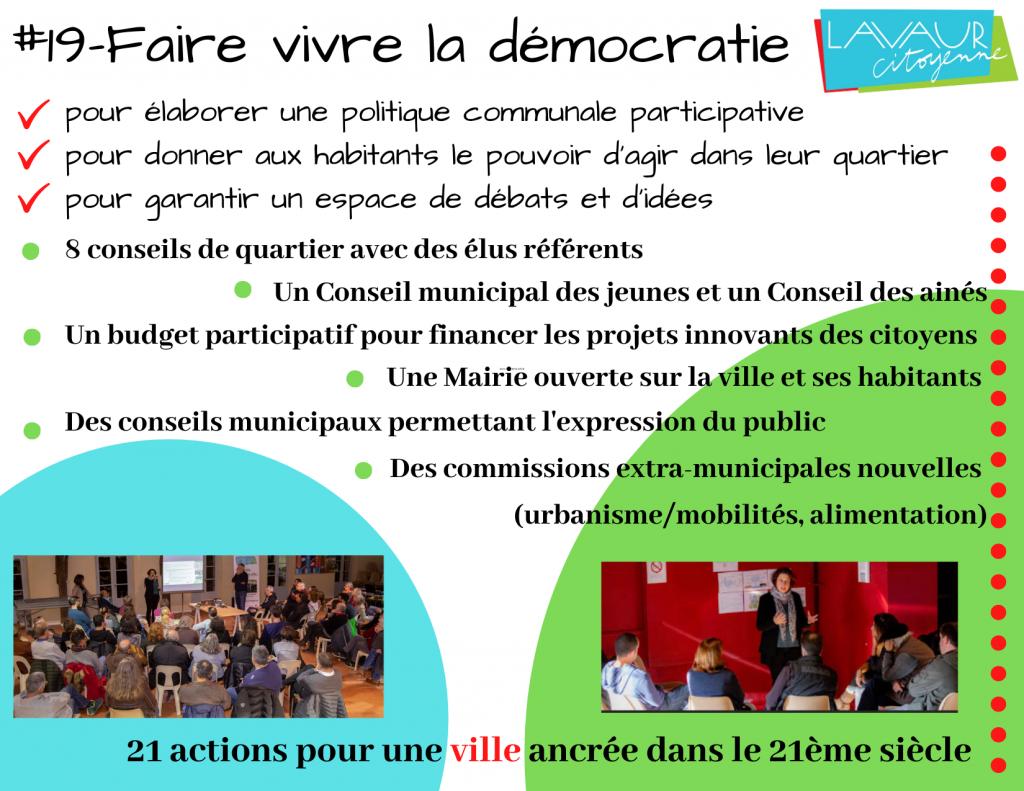 Action phare #19 Faire vivre la démocratie