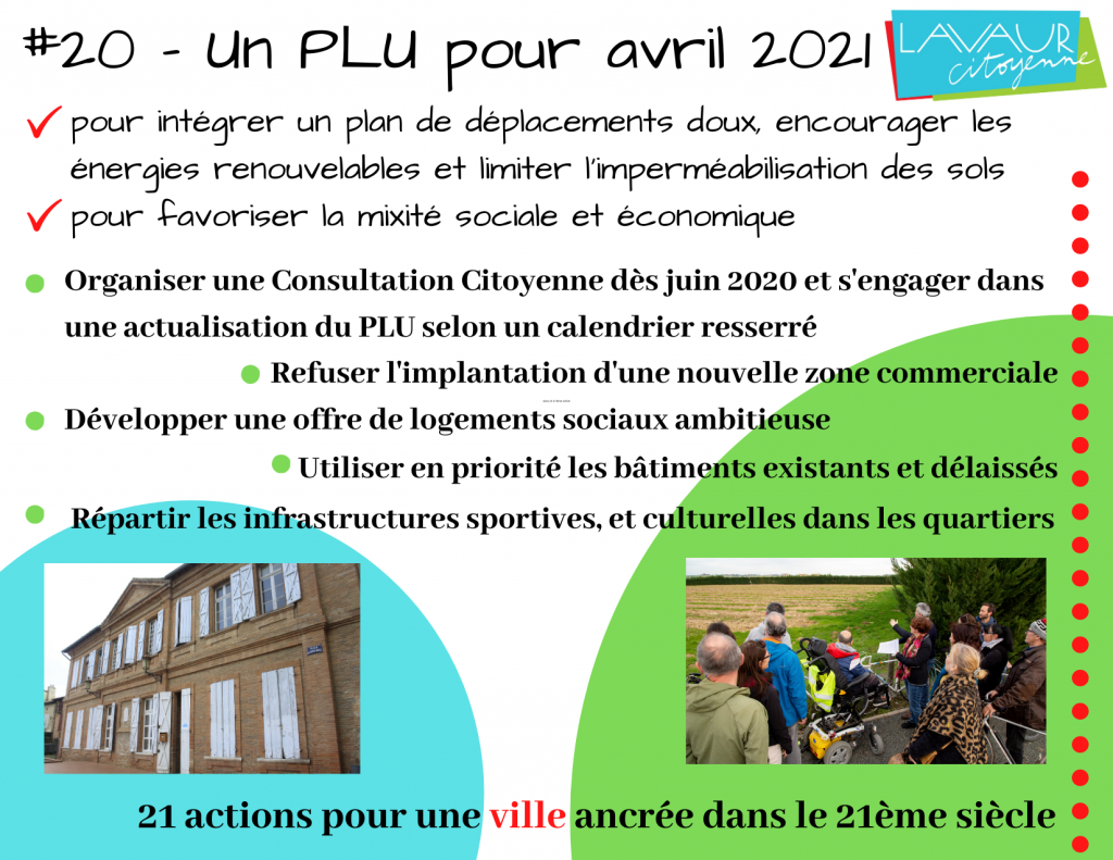 Action phare #20 PLU pour avril 2021