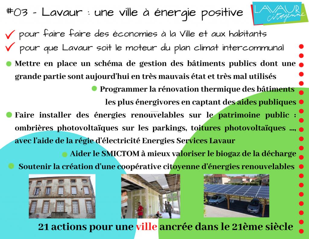 Action phare #3 Lavaur une ville à énergie douce