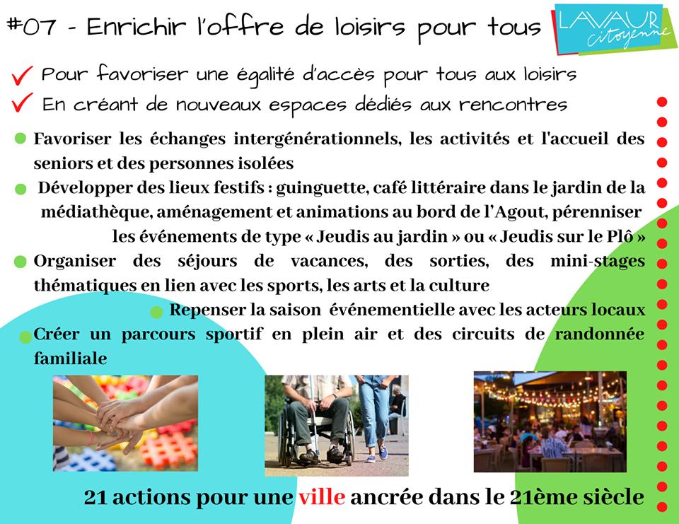 Action phare #07 Enrichir l'offre de loisir pour tous
