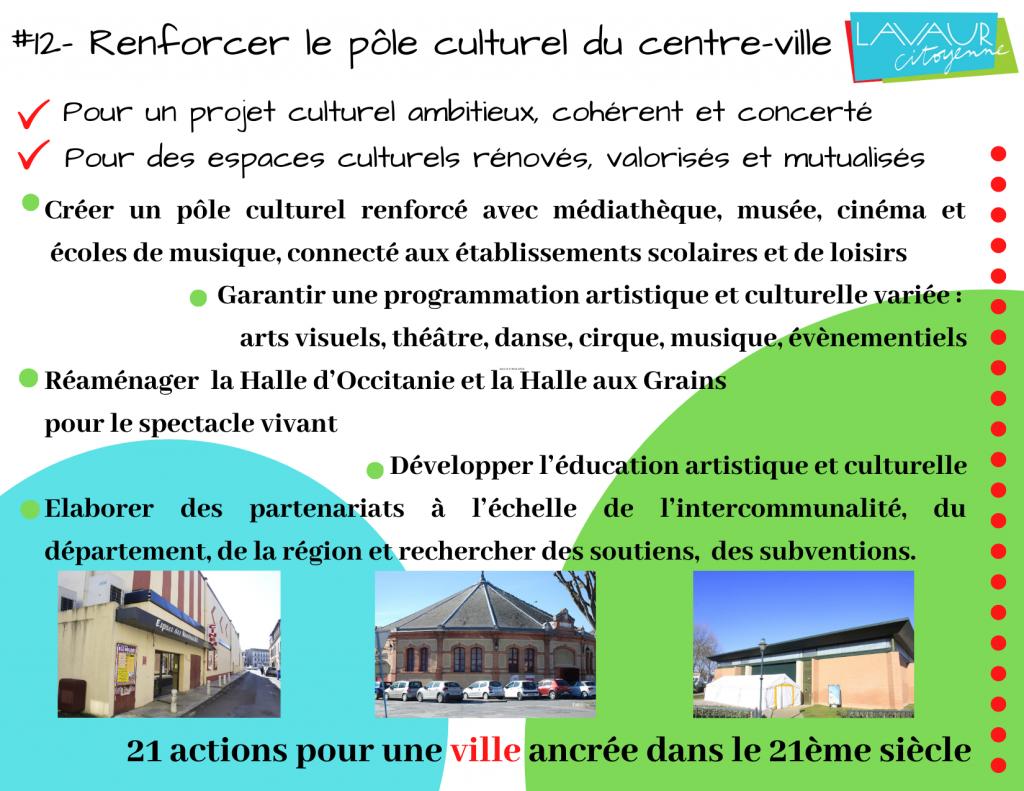 Action phare #12 Renforcer le pôle culturel du centre-ville