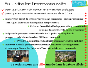 Action phare #13 Stimuler l'intercommunalité